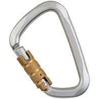 "Steel Large ""D"" Key Lock 3-Stage Carabiner by Liberty Mountain"