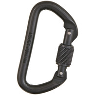 "Black ""D"" Screwgate Carabiner by Liberty Mountain"