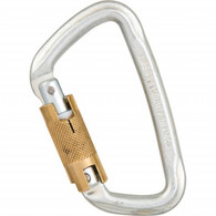 "Steel Modified ""D"" Three-Stage Auto Lock Carabiner by Liberty Mountain"
