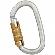 Steel Heavy Duty Key Lock Oval Three-Stage Auto Lock Carabiner by Liberty Mountain