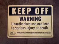 """""""WARNING"""" Sign"""