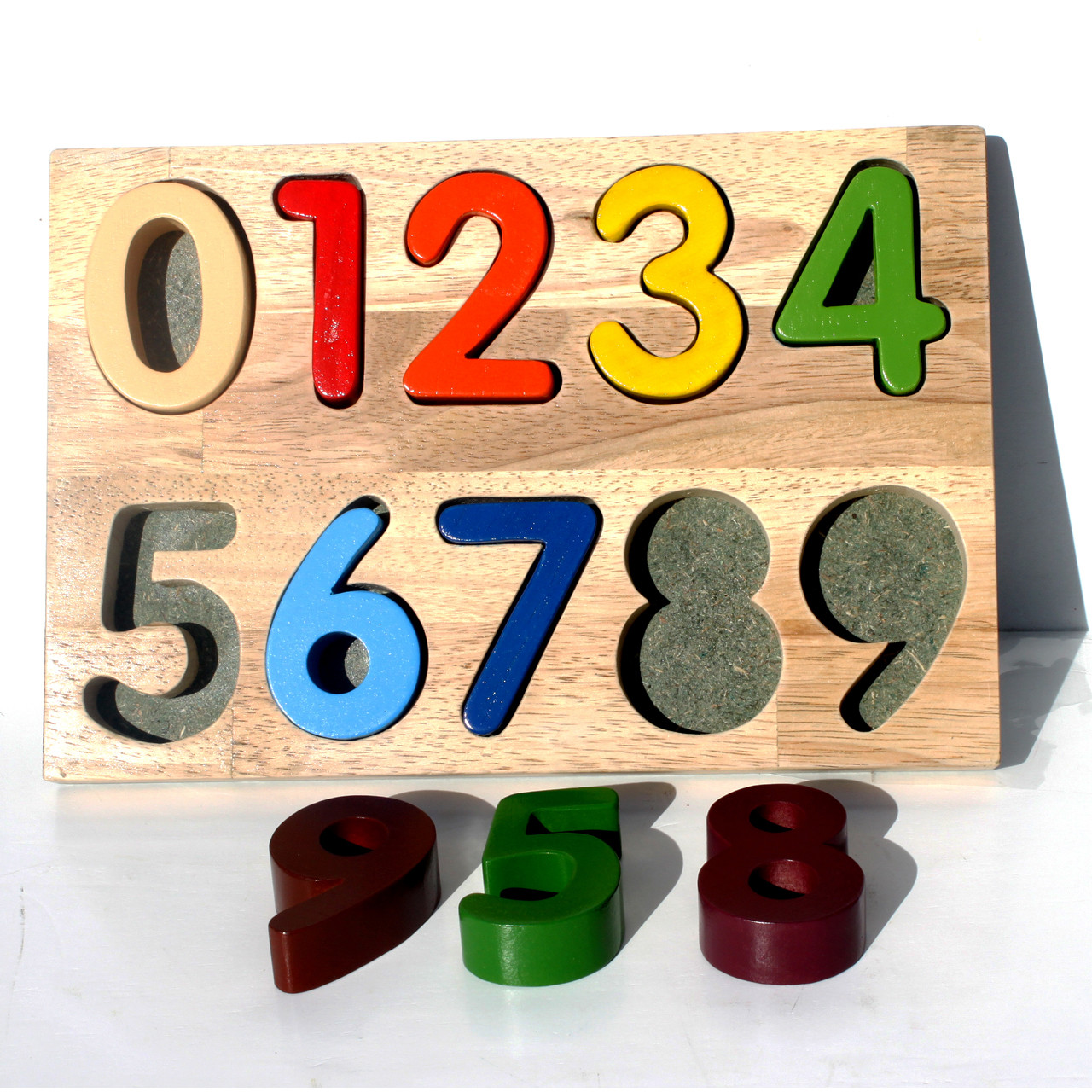Toys For Learning Numbers : Wooden toy puzzle numbers