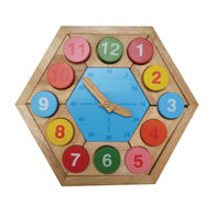 Wooden Toy Puzzle - Clock