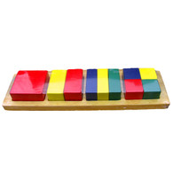 Wooden Toy - Square Fraction Bar