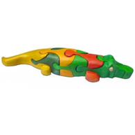 Color Crocodile 3D Puzzle - Wooden Toy