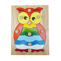 Hootie Owl Knob Puzzle - Wooden Toy