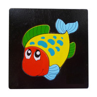 Wooden Toy Rainbow Fish Puzzle
