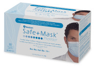 Medical face mask with earloops