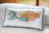 "Pearl of the Sea Mermaid Pillow - 14"" x 24"""