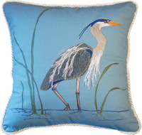 "Blue Heron Pillow 20"" square"