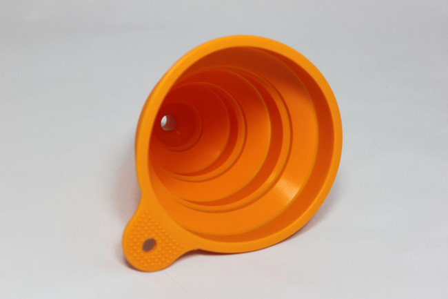 Orange funnel - side view.