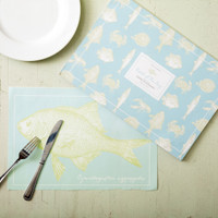 Sea Life 48 pp Placemat Book 6 Fishes designs