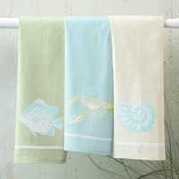 Sea Life Dish Towels