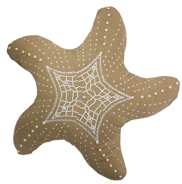 Starfish Pillow - Shown in Heather Beige (Item# P0940HB)