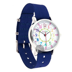 EasyRead Time Teacher 24 Hour Kids Watch - Rainbow Face/Navy Band