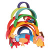 Grimm's Large Rainbow Stacking Tunnel Doll House