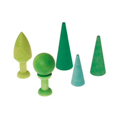 Grimm's Mixed Forest Green wooden trees