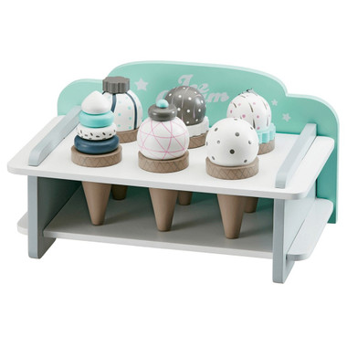 Kids Concept Wooden Ice Cream Rack with Ice Creams