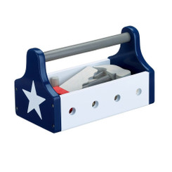 Kids Concept Wooden Navy Star Tool Box