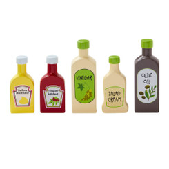 Kids Concept Wooden Pantry Bottles Play Set