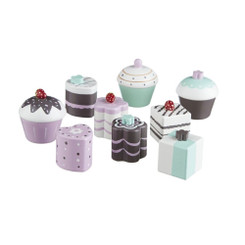 Kids Concept Wooden Toy Cakes Cupcakes Set of 9