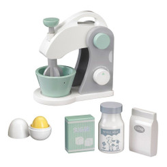 Kids Concept Food Mixer Set with egg, sugar, flour and milk