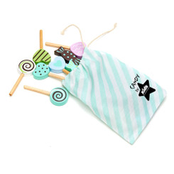 Kids Concept Wooden Play Candy with drawstring bag