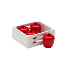 Kids Concept Fruitbox Apples in Crate with wooden red apples