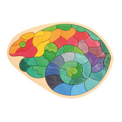 Grimm's Mini Creative Chameleon Puzzle with tray