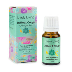 Lively Living Sniffles and Cough Organic Essential Oil 10ml