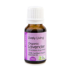 Lively Living Lavender Certified Organic Essential Oil 15ml