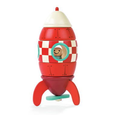Janod Magnetic Wooden Rocket
