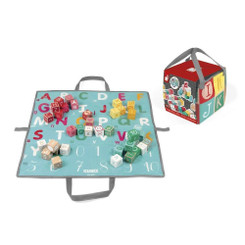 Janod 40 ABC Wooden Blocks with Bag