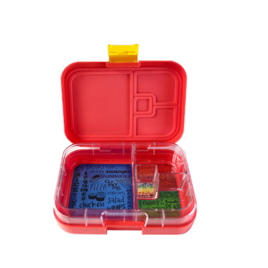 Munchbox Mini4 Lunchbox Red Lava with tray