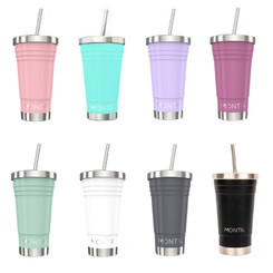 MontiiCo Insulated Smoothie Cup 450ml assorted colours
