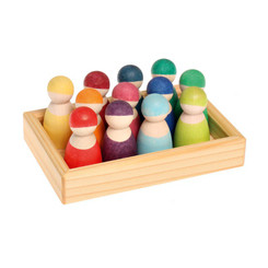 Grimm's 12 Rainbow Friends in a tray