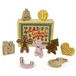 Tooky Toy Wooden Christmas Cookies Biscuits