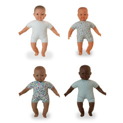 Miniland Soft Bodied Doll 40cm - Asian, African, Caucasian, Latin American