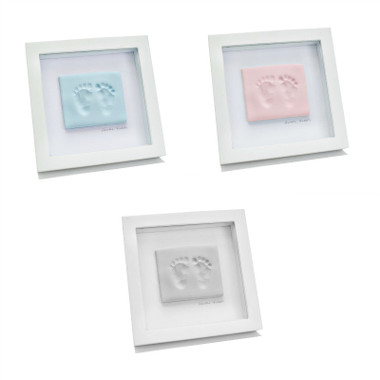 BABYink® Single Frame Clay Impression Kit - Blue, Pink and White