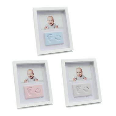 BABYink® Double Frame Clay Impression Kit - Blue, Pink and White