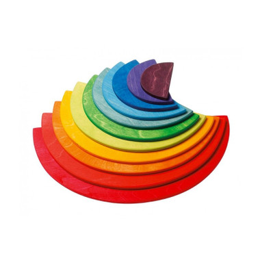 Grimm's Large Wooden Semicircles - Rainbow