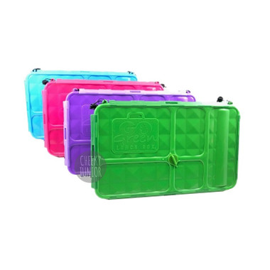 Go Green Large Lunch Box - Green, Purple, Pink and Blue colours