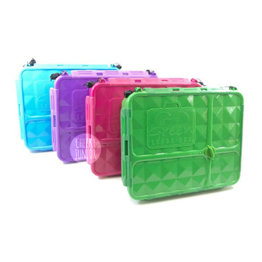 Go Green Medium Lunch Box - Green, Pink, Blue and Purple colours