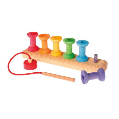 Grimm's Small Bobbins Threading & Stacking Game