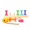 Grimm's Small Bobbins Threading & Stacking Game - threading