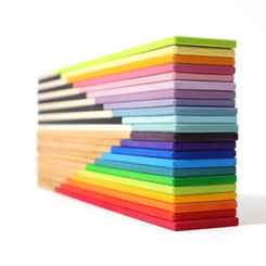 Grimm's Building Boards - Natural, Monochrome, Pastel, Rainbow