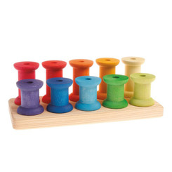 Grimm's Stacking Game Large Rainbow Bobbins