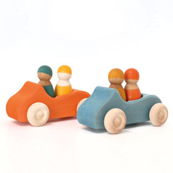 Grimm's Large Convertible Car - Blue and Orange
