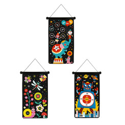 Janod Magnetic Dart Game - Circus, Garden and Robots