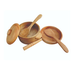 QToys Mahogany Pan Pot and Utensil Set